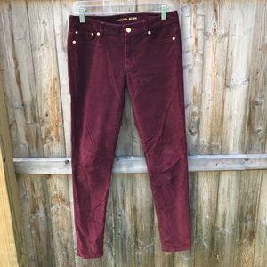 Michael Kors Pants - Michael Kors burgundy skinny corduroy pants.
